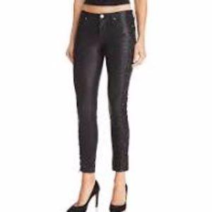Blank NYC Black Skinny Vegan Leather Pants Size 26